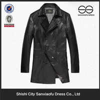 Male Fashion Doble Breast Peacoat, Uae Wholesale Clothes, Rivets for Clothes