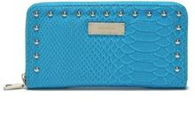 Classic PU Wallet,Long Purse with Crocodile Pattern and Rivet Pinned