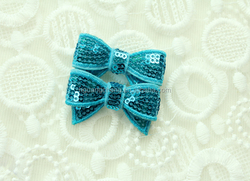2015 hot sale fashionable mini shiny sequin bow