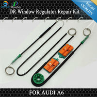 8L3837461 4B0837461 4B0837753D FOR AUDI A6 WINDOW REGULATOR REPAIR KIT 1 set cable, roller and 4x Plastic Clips
