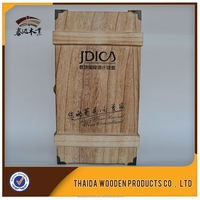 natural color sliding lids signle bottle wooden wine box with highes