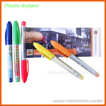 Fancy Stationery Products Plastic Ball Pen With Cap