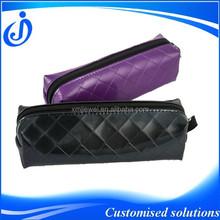 Fashionable Stationary PU Purple Pencil Case