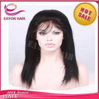 Eayon hair top quality hot sale full lace wigs Brazilian straight hair free shipping