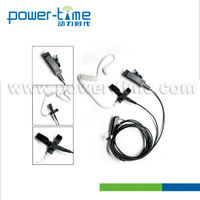 Most Popular Two Wire Walkie Talkie Headphones With Disconnectable Acoustic Tube Palm Mic & 3 Ear Plug for Choice