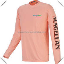 China Fishing Wear 100% Polyester Functional Mens Long Sleeve Fishing T shirts Mens Dry Fit Custom Printed Outdoor Fishing Tee