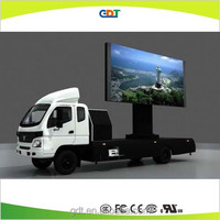 Outdoor led display van mobile stage truck for sale, outdoor electronic advertising led display screen