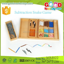 Subtraction Snake Game Montessori Toddler Toys Wooden Materials for Sale