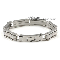 Wholesale Men Chain Stainless Steel Bracelet With Strong Magnet ,Germanium ,Negative Ion And Far Infrared