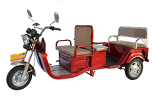 Two row 3 wheel electric bicycle for passenger