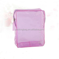 Eco-friendly heat seal promotional clear Plastic cosmetic bag