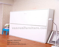 Hot built in beds for the wall OEM King size with storage cabinet vanrom furniture