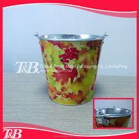 metal hanging flower bucket,promote coolers