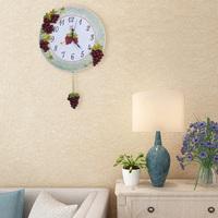 wall clock modern interior design with big digits & pendlum print rhythm rustic swiss taiwan whiteboard wheel shape wall clock