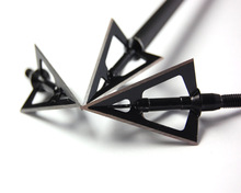 JX212 black widow 3 blades stainless steel arrow head for archery compound bow and crossbow broadheads