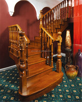 curved wood stairs/wood stair nosing/interior wood stairs