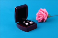 Wholesale Glossy Gift Packaging Wooden Jewelry Earring Box Promotion W43E