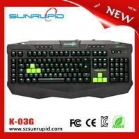 104 Key Macro Multimedia Gaming Mechanical Backlit Keyboard with LED light