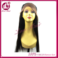 Charming delighted lace front wig high spirits brazilian virgin hair black color new products straight silk hair