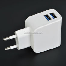 5v 2.1a+1a wall charger UL approved dual usb wall charger
