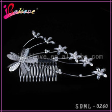 Young women' charming 6.8 inch big hair comb for hair highlight jewelry (SDML-0260)