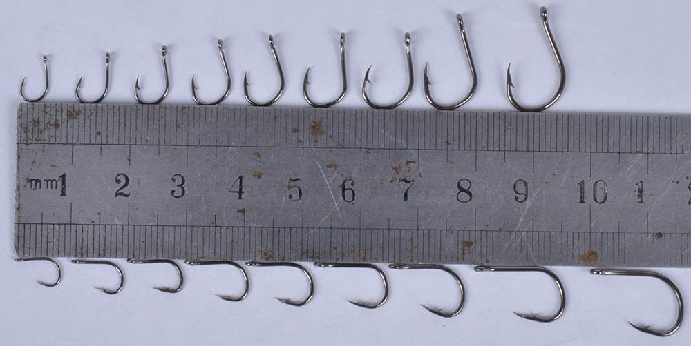 размер рыболовного крючка российский