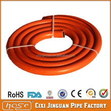 2015 New Style 9x15mm Orange PVC Gas Hose, PVC Gas LPG Flexible Hose, Flexible Hose For Gas Cylinder