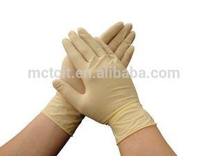 メーカーの100%天然ラテックス試験手袋