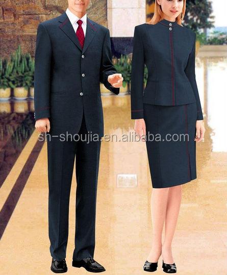 Custom hotel reception uniform for women men buy hotel for Uniform for spa receptionist