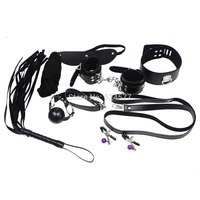 7 Pcs/ Set Play Sex Toys, Whip, Rope, Mouth Stuffed, Nipple Clamps, Mask, Hand-cuffs, Cuffs Under the Bed Restraint Systems