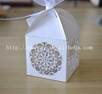 2015 wedding souvenir favors! white wedding favor boxes for guests, laser cut white souvenir boxes