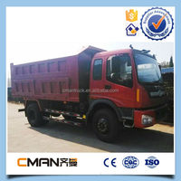 on stock 2015 T-king LHD 12m3 15 ton tipper truck for sale for bad or desert road