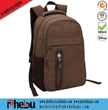 Khaki vintage canvas backpack wholesale
