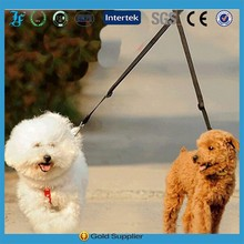 Nylon Double Handfree pet dog lead leash one leashes can take two dogs