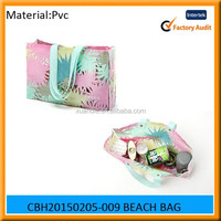 New design and hot selling fashion pvc beach bag wholesale tote bag, plastic beach bag, plastic bag manufacturer