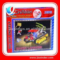 kids diy toy rocket launcher car model