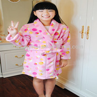 Pink Printed Kids Bathrobe Cheap Robes For Children