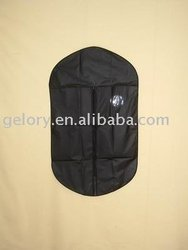 black non woven dress suit cover with pvc window