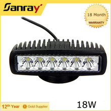 IP68 Waterproof 6inch 18w LED Work Light for Vehicle Marine