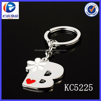 Hot sale custom handmade B metal letter keychain for baby toy