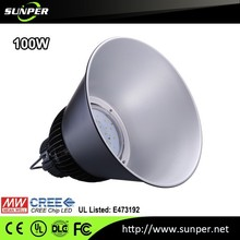 meanwell driver 100w led high bay light, CRI80 industrial led high bay luminaire