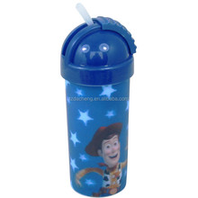 Cartoon 3D Lenticular Plastic Drinking Water Bottle With Handle