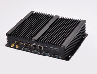 Intel Core i3 4010u Fanless Industrial i3 Mini PC Windows 8 Embedded 2G RAM 16G SSD 2 Lan HDMI 6 RS232 WiFi 8 USB HTPC TV Car PC