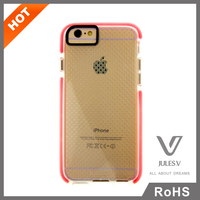 Cell phone accessory Ultra Thin Clear Crystal Gel Soft TPU + pc Case Cover for iphone 6 4.7'