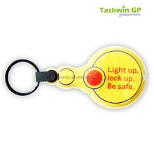 New arrival design reflective keychain with customized logo , Wholesale printing processed LED reflective keyring
