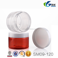 120g thickening single wall cost effective cosmetics packaging clear flat round pet jars