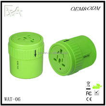 wifi light socket adapter World Travel 100v-250v Ac Power Socket Plug Adapter with 5v Power Converter