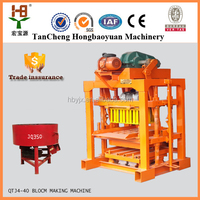 Factory price QTJ4-40 cement/fly ash/concrete block making machine