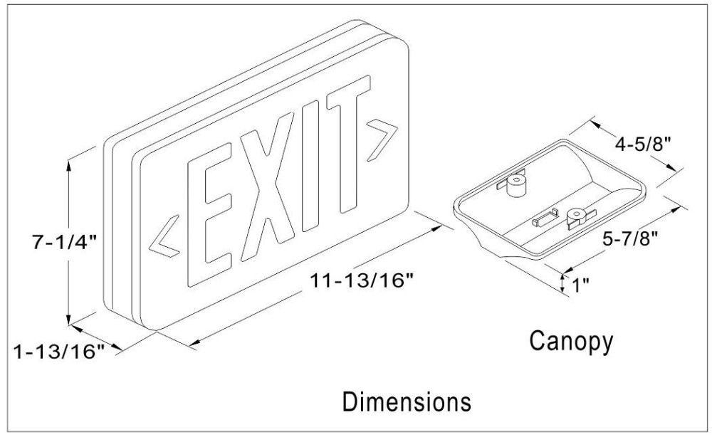 factory price automatic ul approved led emergency exit
