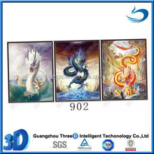 Chinese dragon print changing 3D lenticular flip pictures